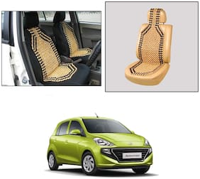 Oshotto Wooden Car Beads Car Wooden Acupressure Bead Seat Cover Compatible with Hyundai New Santro 2018-2021 - (Beige)