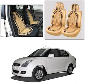 Oshotto Wooden Car Beads Car Wooden Acupressure Bead Seat Cover Compatible with Maruti Suzuki Dzire 2017-2020 - Set of 2