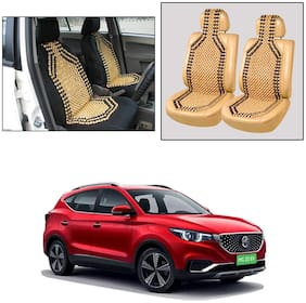 Oshotto Wooden Car Beads Car Wooden Acupressure Bead Seat Cover Compatible with MG ZS EV - Set of 2
