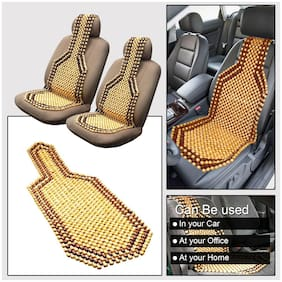Oshotto Wooden Car Beads Car Wooden Acupressure Bead Seat Cover for All Cars - Set of 2