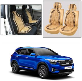 Oshotto Wooden Car Beads Car Wooden Acupressure Bead Seat Cover Compatible with Kia Seltos - Set of 2