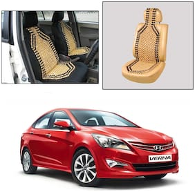 Oshotto Wooden Car Beads Car Wooden Acupressure Bead Seat Cover Compatible with Hyundai Verna Fludic - (Beige)