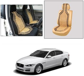 Oshotto Wooden Car Beads Car Wooden Acupressure Bead Seat Cover Compatible with Jaguar XE - (Beige)