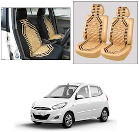 Oshotto Wooden Car Beads Car Wooden Acupressure Bead Seat Cover Compatible with Hyundai i10 Old - Set of 2