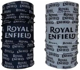 Pack of 2 Royal Enfield Printed 11 in1 Multifunctional Headwrap Bandana Scarf/face mask .15