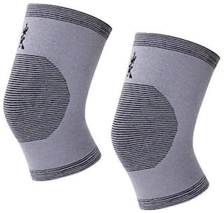 Pain Relief Bamboo Charcoal Knee Support Knee Support (Free Size, Multicolor)
