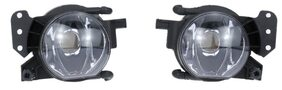 Pair of Left & Right Front Fog Light Lampshade Bulb Cover Set for BMW 5 SERIES E60 2004-2007