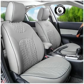 Pegasus Premium PU Leather Car Seat cover Grey For Tata Safari