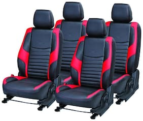 Pegasus Premium PU Leather BLACK RED Car Seat Cover For Maruti Suzuki Alto 800