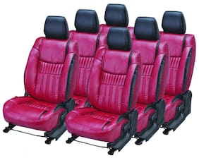 Pegasus Premium PU Leather CHERRY BLACK SUPREME Car Seat Cover For Mahindra Scorpio