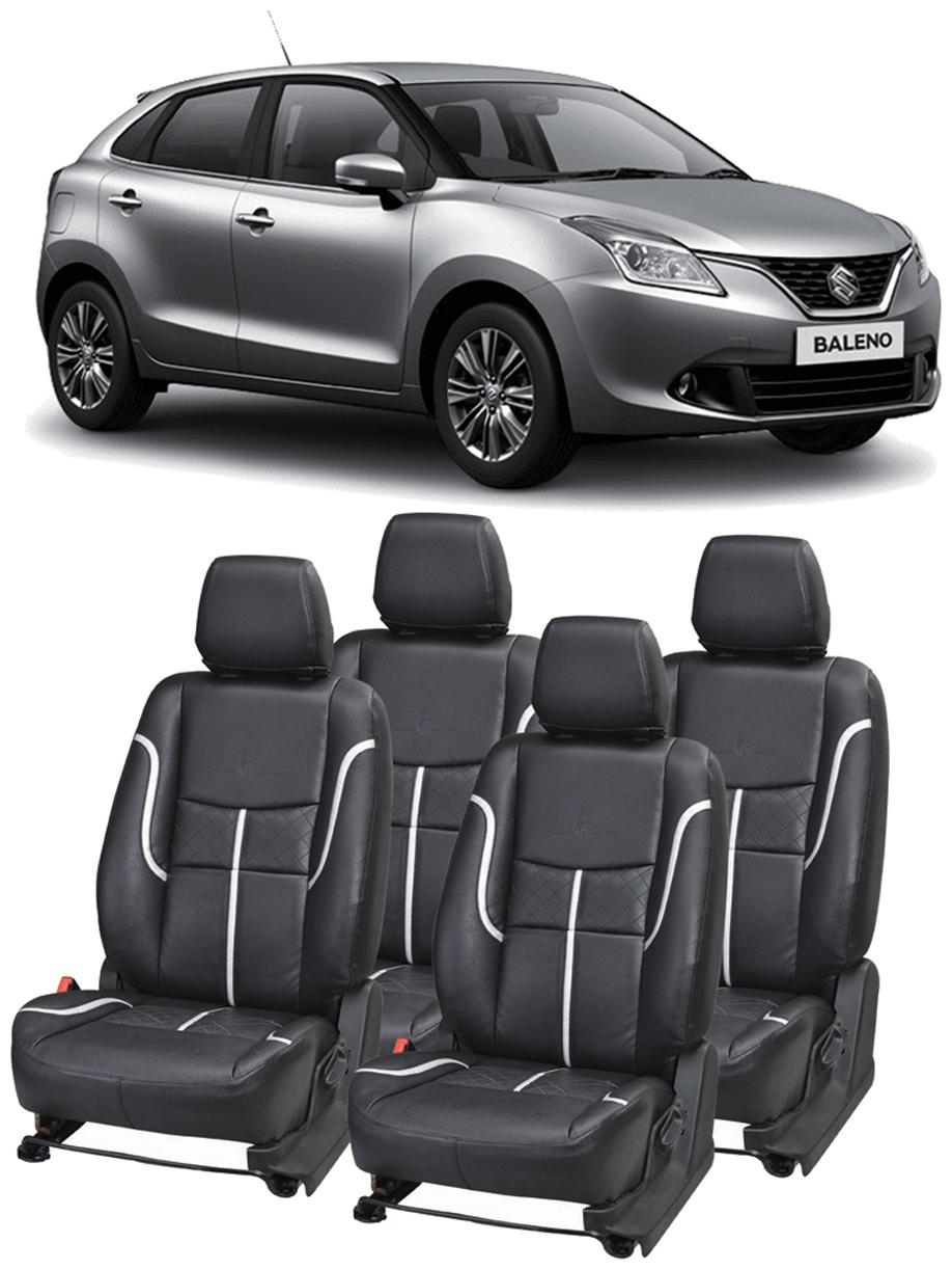 Buy Pegasus Premium Car Seat Cover For Maruti Baleno Black Silver Online At Low Prices In India Paytmmall Com