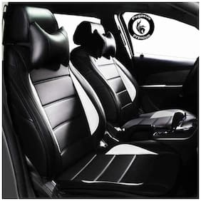 Pegasus Premium PU Leather Car Seat cover Black White For Maruti Alto