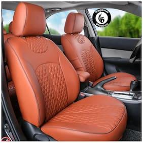 Pegasus Premium PU Leather Car Seat cover Tan For Maruti Baleno