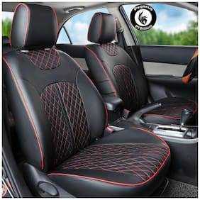 Pegasus Premium PU Leather Car Seat cover Black For Hyundai I20