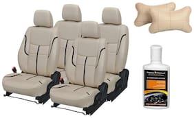 Pegasus Premium Seat Cover for Maruti Baleno with Neck rest and Dashboard polish