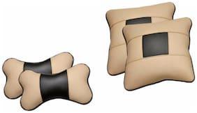 Pegasus Premium Universal Car Pillow (Rectangular Pack of 4)