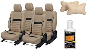 Pegasus Premium Seat Cover for Hyundai Elite i20 with Neck rest and Dashboard polish