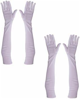 PinKit Cotton Driving Full Hand Arm Sleeves Gloves for Men & Women