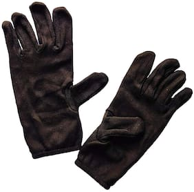 PinKit Men Cotton Hand Summer Gloves for Protection From Sun Burn/Heat/Pollution -1 Pair (Free Size) Brown