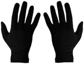 PinKit Men Cotton Hand Summer Gloves for Protection From Sun Burn/Heat/Pollution -1 Pair (Free Size) Black