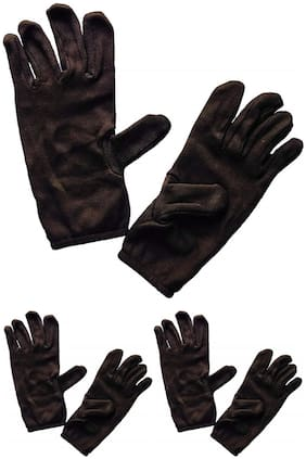 PINKIT Men's Cotton Hand Summer Gloves for Protection From Sun Burn/Heat/Pollution (Free Size) - Pack of 3 Pairs