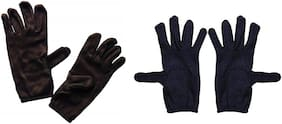 PINKIT Men's Cotton Hand Summer Gloves for Protection From Sun Burn/Heat/Pollution (Free Size) -2 Pairs Mix Combo Pack