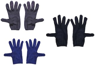 Pinkit Men's Hand Summer Gloves For Protection From Sun Burn/Heat/Pollution (3 Pair )