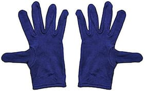 PinKit Men's Cotton Hand Summer Gloves for Protection From Sun Burn/Heat/Pollution (Free Size) -1 Pair