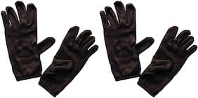 PinKit Men's Cotton Hand Summer Gloves for Protection From Sun Burn/Heat/Pollution (Free Size) -2 Pairs Combo Pack