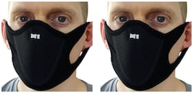 PinKit Sports Half (M1) Face Mask Outdoor Ski Masks for Motorcycle, Bicycle Face Mask, Best Protector from Pollution - Pack of 2