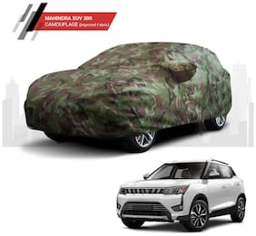 Polco Premium Custom Fitting Water Resistant Car Body Cover Compatible for Mahindra XUV 300 (Camouflage)