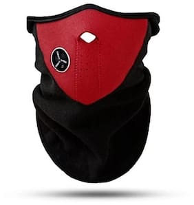 POLLUTION Red HALF FACE MASK FOR BIKE RIDING