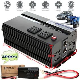 Portable Car LED Power Inverter 2000W/4000WATT DC 12V to AC 110V USB Charger US