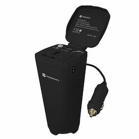 Portronics Car Power One 150 W Car Power Invertor AC 220-240V/50Hz Output with Dual USB Port DC 5V/4.2A Total