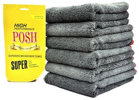 Posh Superior Microfiber Cleaning Cloth 60cm*40cm(Pack Of 6)