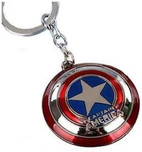 Prime Traders Captain America Shield Metal Keychain