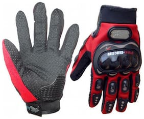 pro biker bike rider glove red color free size