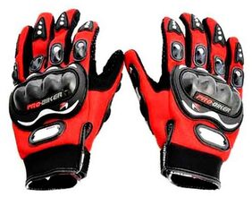 Probiker - Bike Riding Full Gloves (1 Pair) - Red Color