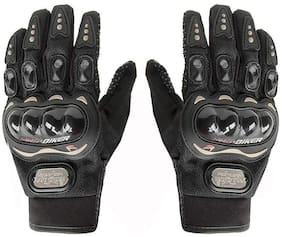 Pro-Biker Black Color Bike Rider Gloves