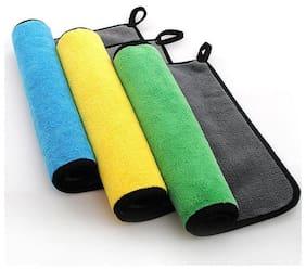 Prusty's Dual Fleece Premium Quality Microfiber Cloth(Pack Of 3)