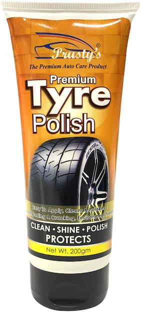 Prusty's Premium Tyre Polish With High Gloss Shine For Cars And Bikes