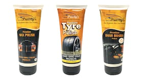 Prusty's Premium Polishes For Dashboard/Tyre and Wax For Cars And Bikes