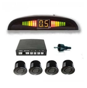 Prusty's Universal Reverse Parking Sensor For all Cars with LED Display(Color: Black)