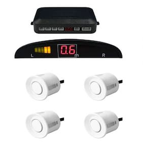Prusty's Universal Reverse Parking Sensor For all Cars with LED Display(Color: White)