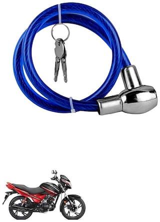 QiisX Heavy Duty Multipurpose Cable Lock for Bike, Luggage, Helmet, Steel Keylock, Anti-Theft For Hero Glamour Programmed FI