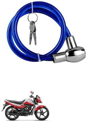 QiisX Heavy Duty Multipurpose Cable Lock for Bike, Luggage, Helmet, Steel Keylock, Anti-Theft For Hero Splendor I Smart