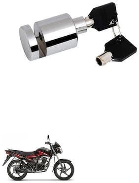 Qiisx Heavy Duty Disc Brake Lock Anti Theft Stainless Steel 7mm Pin Wheel Locking Security Lock for Bike and Motorcycle (Chrome) Suzuki Hayate