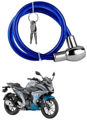 QiisX Heavy Duty Multipurpose Cable Lock for Bike, Luggage, Helmet, Steel Keylock, Anti-Theft For Yamaha Fazer 25