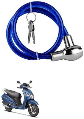 QiisX Heavy Duty Multipurpose Cable Lock for Bike, Luggage, Helmet, Steel Keylock, Anti-Theft For Honda Activa 125