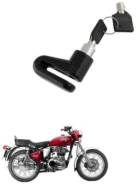 QiisX Mini Bicycle Motorcycle Disc Brake Lock/ Disk Lock Security For Royal Enfield Bullet 350 Twinspark